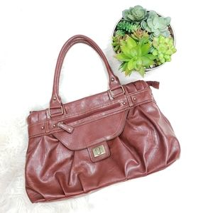 ♦️5/$20 Mondani Brown Leather Shoulder Bag Purse